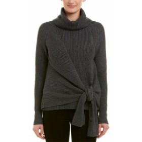 ファッション トップス Acrobat Tie-Front Cashmere-Blend Sweater Xs Grey