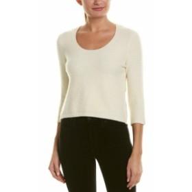 Quinn  ファッション トップス Quinn Cropped Wool-Blend Sweater 8 Ivory