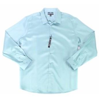 ファッション ドレス INC Mens Solid Dusty Turquoise Blue Size 3XL 19-19 1/2 Dress Shirt