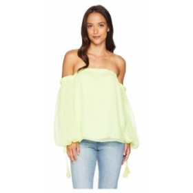 Vince Camuto ヴィンスカムート 服 一般 Off-Shoulder Bubble Sleeve Sheer Stripe Blouse
