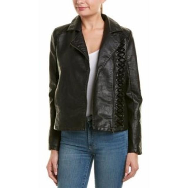 ファッション 衣類 Design History Moto Velvet Laced Jacket