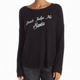 """ファッション トップス Free Press NEW Black Women Small S """"Dont Judge Me Santa"""" Pullover Sweater #223"""