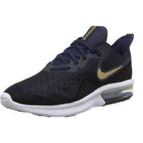 Nike WMNS Air Max Sequent 4 [AO4486-003] Women Casual Shoes Black/Gold/US 7.0