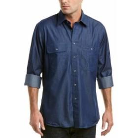 ファッション ドレスシューズ Bills Khakis Classic Woven Work Shirt S Blue