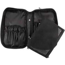 BALLEEY オックスフォード布化粧品袋化粧ブラシ収納袋ポータブルジッパーバッグ防水と耐久引き出しタイプフリーアップスペース (色 : 黒)