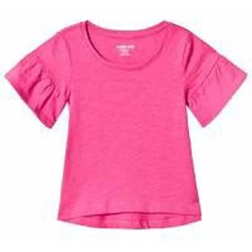 Lands End キッズトップス Lands End Pink Ruffle Sleeve Top