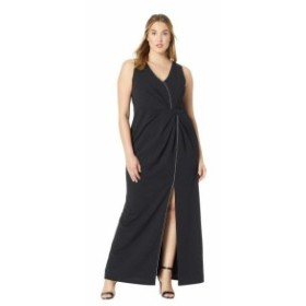 Adrianna Papell アドリアナパぺル ドレス 一般 Plus Size Halter Long Dress