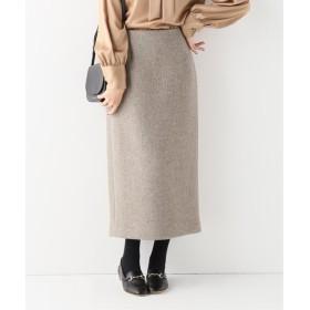 IENA MANTECO ラメツィードスカート グレーB 34