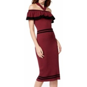 XOXO キスハグ ファッション ドレス XOXO Womens Purple Size Small S Ribbed Ruffled Halter Sweater Dress