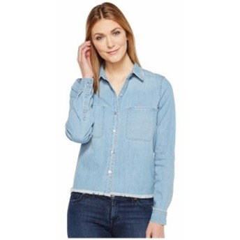 7 For All Mankind セブンフォーオールマンカインド 服 一般 Step Hem Denim Shirt in Skyway Authentic Blue