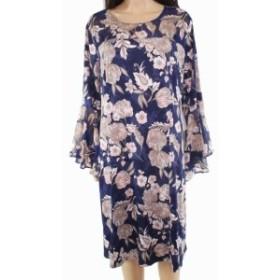 ファッション ドレス Sami & Jo Womens Dress Pink Blue Size 2X Plus Sheath Floral Print