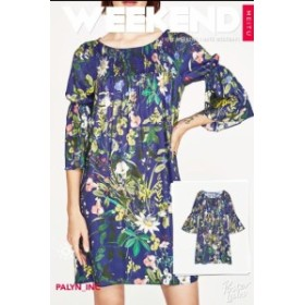 ファッション ドレス NWT ZARA FLORAL PRINT SMOCK DRESS TUNIC 2950/167_S M