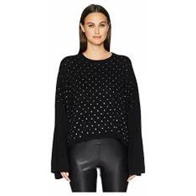 The Kooples レディースその他 The Kooples Wide Sleeve Pullover with All Over Rhinestones Black