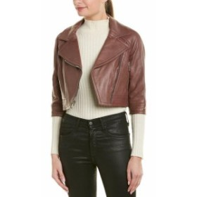 YIGAL AZROUEL イーガル・アズローエル ファッション 衣類 Yigal Azrouel Cropped Leather Moto Jacket 4