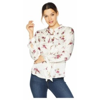 Vince Camuto ヴィンスカムート 服 一般 Long Sleeve Ruffle Front Delicate Bouquet Blouse