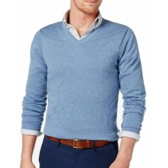 HEATHER  ファッション トップス Michael Kors Mens Sweater Blue Size 2XL V-Neck Pullover Heather