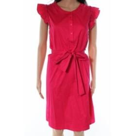 Gibson ギブソン ファッション ドレス Gibson NEW Pink Half Button Ruffle Women XL Hi Sugarplum Shift Dress