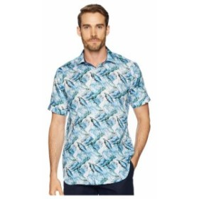 BUGATCHI ブガッティ 服 一般 Shaped Fit Palm Fronds Woven Shirt