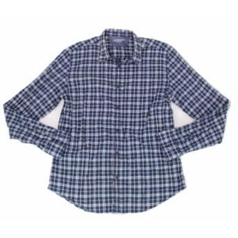 Calvin Klein カルバンクライン ファッション アウター Calvin Klein Mens Shirt Blue Size Medium M Seersucker Plaid Button Up