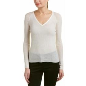 Elie Tahari エリータハリ ファッション 衣類 Elie Tahari Wool-Blend Sweater L White