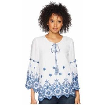 Karen Kane カレンケーン 服 一般 Embroidered Bell Sleeve Top