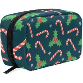 (VAWA) 化粧ポーチ 大容量 可愛い クリスマス 飾り 雪柄 グリーン メイクポーチ コンパクト 機能的 おしゃれ 持ち運び コスメ収納 仕切り ミニポーチ バニティーケース 洗面道具 携帯用
