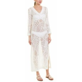 Letarte  ファッション ドレス Letarte Accuracy Long Lace Cover-Up Xs White