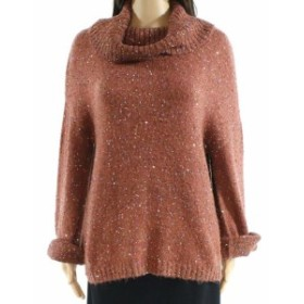 Minne  ファッション トップス Minne NEW Brown Womens Size XL Tunic Sequined Cowl Neck Sweater