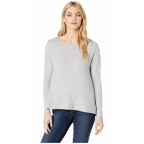 Three Dots スリードッツ 服 スウェット Brushed Sweater Boxy Long Sleeve Top