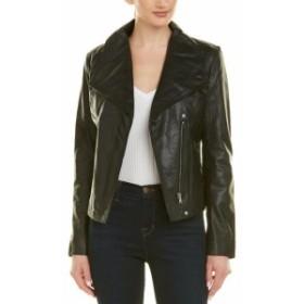 Badgley Mischka バッジリーミシュカ ファッション 衣類 Badgley Mischka Asymmetrical Leather Jacket