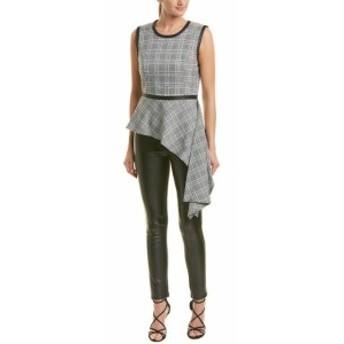 BCBGMAXAZRIA BCBG マックスアズリア ファッション 衣類 Bcbgmaxazria Asymmetrical Drape Top S Black