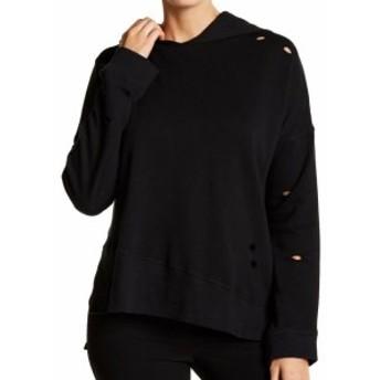 ファッション トップス Abound NEW Black Womens Size XXS Distressed Hi-Low Hooded Sweater