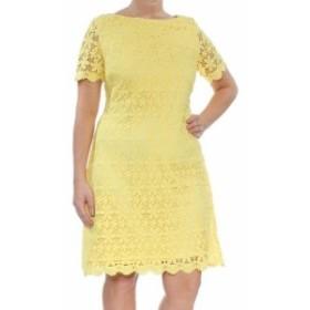Jessica Howard ジェシカハワード ファッション ドレス Jessica Howard NEW Yellow Womens Size 10 Floral Lace Sheath Dress