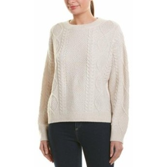 Vince ヴィンス ファッション トップス Vince Cable-Knit Wool & Cashmere-Blend Sweater M White