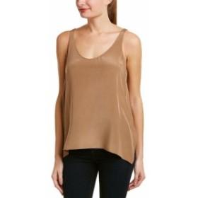 ファッション 衣類 Lavender Brown Classic Silk Tank L Brown