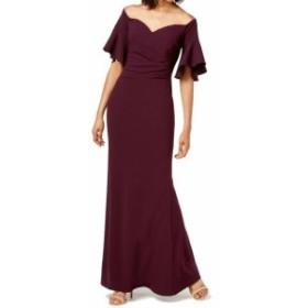 Calvin Klein カルバンクライン ファッション ドレス Calvin Klein Womens Purple Size 4 Ruched Off Shoulder Sheath Dress