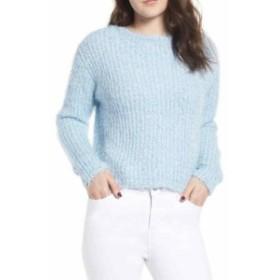 ファッション トップス Love by Design Womens Blue Size Medium M Fuzzy Crewneck Sweater