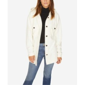 Sanctuary サンクチュアリ ファッション 衣類 Sanctuary Womens White Size Small S Hooded Fleece Knit Jacket