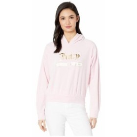 Juicy Couture ジューシークチュール 服 一般 Juicy Emblem Velour Logo Hooded Pullover