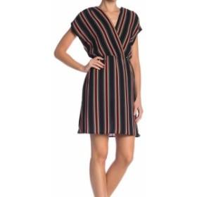 ファッション ドレス Como Vintage NEW Black Womens Size Medium M Striped V-Neck Sheath Dress #799