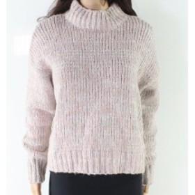 Marled  ファッション トップス RD Style NEW Beige Womens Size Medium M Marled Knit Mock Neck Sweater