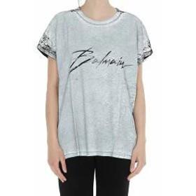 Balmain レディースその他 Balmain Logo Signature T-shirt Grey