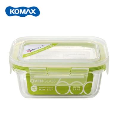 韓國Komax 扣美斯耐熱玻璃長型保鮮盒(烤箱.微波爐可用)370ml