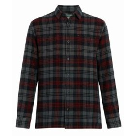 Woolrich ウールリッチ ファッション アウター Woolrich Mens Black Size XL Plaid Print Front Pocket Button Up Shirt