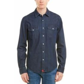 ファッション ドレスシューズ Untuckit Epluchage Slim Fit Woven Shirt S Blue