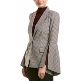 Prabal Gurung プラバル・グルン ファッション 衣類 Prabal Gurung Houndstooth Silk-Lined Jacket 6 Blue