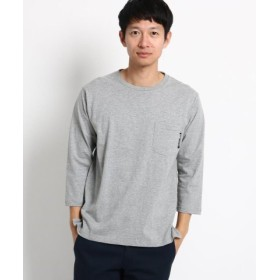 (BASE STATION/ベースステーション)ヘビーウェイト 7分袖 Tシャツ 【WEB限定】/メンズ グレー(012)