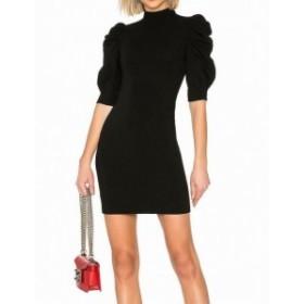 Alice + Olivia アリス+オリビア ファッション ドレス Alice + Olivia NEW Black Puff Sleeve Womens Size 4 Mini Sheath Dress