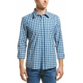 ファッション ドレスシューズ Hyden Yoo Slim-Fit Woven Shirt L Blue