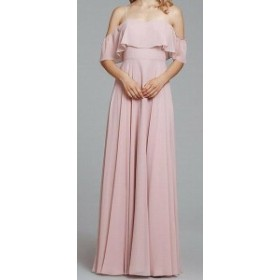 Hayley Paige ヘイリーペイジ ファッション ドレス Hayley Paige NEW Pink Dusty Rose Womens Size 22 Plus Chiffon Gown